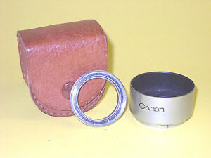 Canon push-on Metal Lens Shade with Filter Ring in extremely good condition!