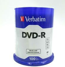 VERBATIM DVD-R 4.7GB 16X SPEED 2 HOUR, 100PACK
