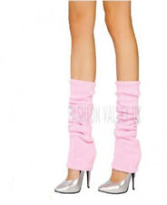 Girls Teen 80's Dance Plain Ribbed Leg Warmers Women Legwarmer Fancy Dress Tutu Baby Pink