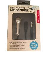 Kikkerland Mini Karaoke Microphone Sing Record Share New In Package