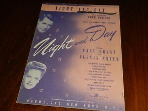 COLE PORTER: NIGHT AND DAY-Vintage Sheet-from the movie w/ Cary Grant & A. Smith