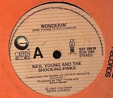 "Neil Young & The Shocking Pinks ‎– Wonderin' / Payola Blues New Zealand 7"" Vinyl"