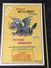 Flying Dragon Bottle Rocket Report Firecracker Fireworks Vintage Poster