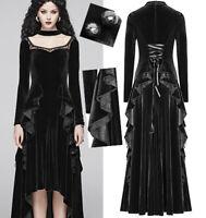 Robe longue velours baroque gothique lolita soirée volants dentelle PunkRave
