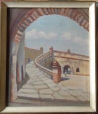 :: Orientalist Medina old building Stairs medieval Mediterranean Oil Paintings