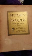 Pictures of Paradise Moods and Moments in Hawaii Blanding Warren w/signed letter