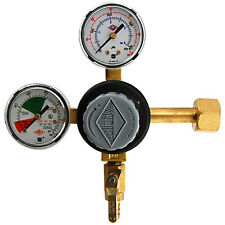 Premium Double Gauge CO2 Pressure Regulator- Polycarbonate- Kegerator Draft Beer