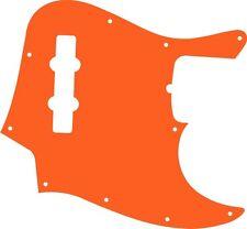 Pickguard Pick guard Scratchplate Fender Jazz J Bass Guitar Orange Acrylic New
