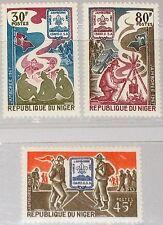 NIGER 1967 160-62 196-98 Boy Scouts World Jamboree Pfafinder Lagerfeuer MNH