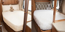 Swift Group Nearside Fitted Sheet + Mattress Protector For Fixed Bed Caravan