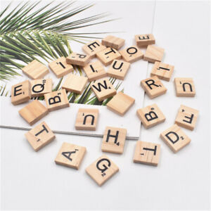100 Mix Scrabble Letters Wood For Crafts Alphabet Ornament Art Decors 20*18*5mm