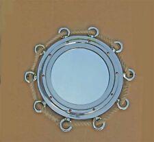 """Roped Porthole Mirror 23.5"""" Diameter Aluminum"""