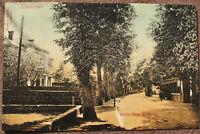 AK Ibbenbüren i. W. Werthmühlen-Allee gelaufen 1907 Bahn-Post