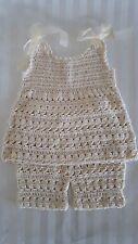 Crochet baby girl dress and shorts set, GORGEOUS!!! 18-24 M