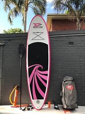 Super Strong Double Layer Inflatable Surfboard SUP 9' with Paddle and Pump pink