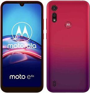 "Motorola Moto E6s XT2053-1 - 32GB - Sunrise Red (Unlocked) Smartphone 6.1"" 13MP"
