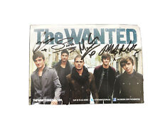 More details for the wanted band signed card