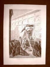 Barcellona nel 1863 Un seppellimento Catalogna Spagna Gustave Doré