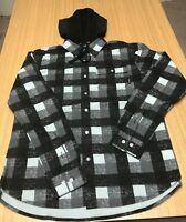 Diamond Supply Black Hooded Flannel Shirt
