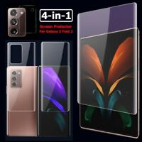 For Galaxy Z Fold 2 5G, Front Back Hydrogel Film Camera Lens Screen Protector ❤❥