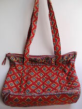Vintage Vera Bradley Villa Red Shoulder Bag Purse Retired Pattern Diamonds Flora