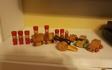 Vintage Montgomery Schoolhouse, Vermont and Toy Maker Rare Wooden Toys Lot of 14