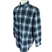 Carhartt Men's Heavy Flannel Shirt Black Shadow Plaid Original Fit Size XL
