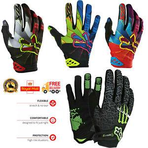 WFX Mountain Bike Bicycle Full Finger Gloves BMX MTB Touch Screen Dirtpaw Men UK