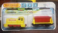 Vintage Matchbox 900 Tp 20 Shunter And Flat Car On Card