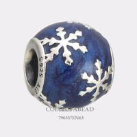 Authentic Pandora Silver Enamel Wintry Delight Bead 796357EN63 *WINTER 2017