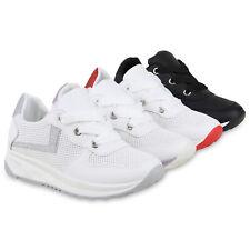 Damen Sportschuhe Laufschuhe Glitzer Turnschuhe Schnürer Sneaker 826164 Schuhe