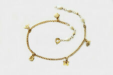 Freshwater Pearls Tiny Chams Gold Anklet/ 9inch / Authentic 1-20 14K Gold Filled