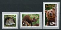 Sweden 2018 MNH Forest Animals 3v S/A Coil Set Bears Mice Wild Animals Stamps