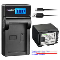 Kastar Battery LCD Charger for Canon BP-819 CG-800 Canon VIXIA HF M46 Camcorder