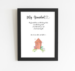 Personalised Grandad Print, Great Gift For Any Occasion- Same Day Dispatch