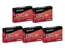 5 Sony HDV HD tape DVM-63HDR Mini DV for Canon XHA1 XHA1S XHG1 XHG1S XLH1 XLH1A