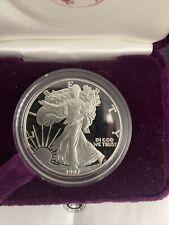 1987-S 1 oz Proof Silver American Eagle (w/Box & CoA)