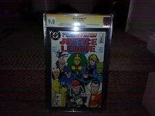 JUSTICE LEAGUE #1 CGC SS 9.8 KEVIN MAGUIRE 1ST MAXWELL LORD KEITH GIFFEN BATMAN