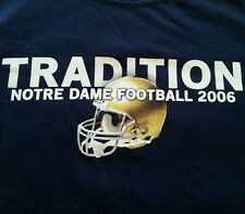 Notre Dame Fighting Irish Alumni Tradition T Shirt S Small NCAA EUC Blue INV794