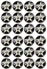 24 x Hollywood Theme Edible Cupcake Toppers Pre-Cut