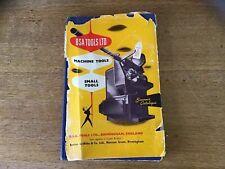 Rare BSA Tools Ltd Machine Tools And Small Tools Souvenir Catalogue 1950's