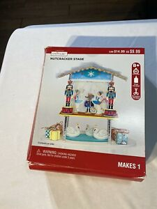 NWT Nutcracker Stage Christmas Creatology Foam Craft New Makes 1 Stage