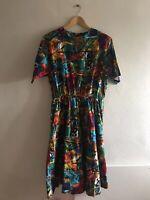Leslie Fay Paisley Dress 1970s Women/'s Size 14W