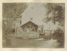 Moulin à l'eau & Carriole France 2 Photographies Vintage citrate c1900