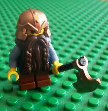 Lego Castle Dwarf Brown Beared Axe Minifigs Dwarves