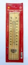Termometro per ambiente in legno 18303 x casa ufficio interni nuovo imballato