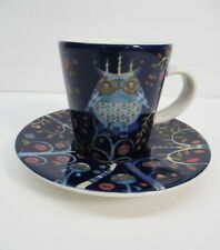 Iittala Taika Sinnen Blue Owl Espresso Demitasse Cup Set Finland Scandanavian