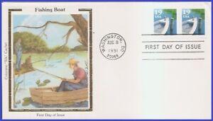 USA5 #2529 U/A COLORANO SILK FDC STR2  Fishing Boat