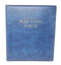 The Travel Log Vintage Postcard Album Book Empty No Postcards