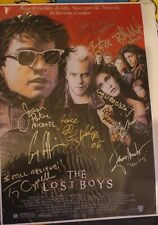 More details for the lost boys cast signed print / poster inc corey haim